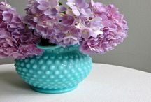 Hobnail glass & other pretty glass etc.  / collectibles  / by Robin Lewis