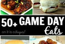 The BEST Game Day Ideas / The best recipes for game day, football parties and tailgating.  You'll find sandwiches, sides dishes, desserts, appetizers and more!  There are even slow cooker recipes and quick and easy recipes.