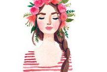 Ilustrações / Ilustrações criativas e inspiradoras pra ilustrar posts de blog ou simplesmente embelezar o feed!