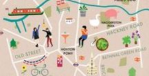 M A P S ♡ / We love maps, especially illustrated ones!