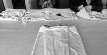 Confection de peignoirs et coussins / Commande de 8 peignoirs et réfection de coussins (dossiers et assises) pour l'éco-lodge Instants d'Absolu à Chavagnac