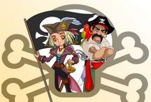 Chasse au Trésor - Pirate Sirène / Le Trésor de Niels Jambe-de-Bois - Une grande aventure pour pirates téméraires et courageuses sirènes. Jeu à télécharger et imprimer pour enfants de 4 à 10 ans