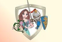 Chasse au Trésor - Princesse Chevalier / Le Château du Roi Arthur et de la Reine Guenièvre - Une grande aventure médiévale pour preux chevaliers et courageuses princesses. Jeu à télécharger et imprimer pour enfants de 4 à 10 ans