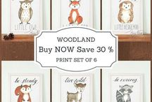 Woodland Nursery Ideas / The Board is about Nursery Decor with warm, fuzzy animal friends, trees and wooden accents, these woodland nurseries bring the outdoors in. Collecting Woodland themed products like wall art prints, hangings, baby showers, baby clothes, mugs, stickers, decals. Even acessories for mothers wich making motherhood easily.
