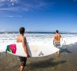 Santa Teresa - Malpais, Costa Rica / Santa Teresa and Malpais in Costa Rica is a bohemian beach town with great surfing. Click any pin for a local travel guide to plan your trip to Costa Rica.