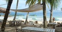 Samara Beach, Costa Rica / It's not just palm trees that line the sun-bleached coastline of Samara in Costa Rica. This town-on-the-sea is home to beachfront restaurants, nightlife, and many other amenities. Click any pin for a local travel guide to plan your trip to Costa Rica.