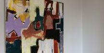 Paintings & rooms - malerier og rum. / Malerier og fotos, malerier udstillet i rum. www.tinahee.com