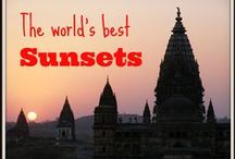 ♥ Sunrise & Sunset ♥ / The golden hours in travel are at sunrise and sunset - here's where to find the best in the world
