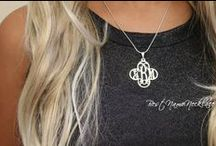 Monogram Necklace / Monogram necklaces and other monogrammed jewelry, preppy fashion, preppy style. #monogram #monograms #monogramjewelry #monogramnecklace #monogramring