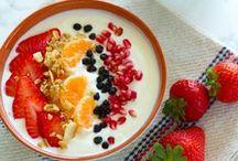 Breakfast / Breakfast items such as muffins, oatmeal, English muffins, pancakes, waffles, yogurt, homemade yogurt, parfaits, eggs, egg breakfast, fried eggs, egg casserole, breakfast casserole, breakfast tacos