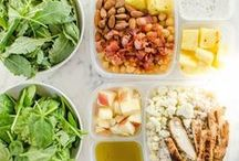 Lunch / Easy lunch ideas you can pack and bring with you to work or school. Packed lunch, work lunch, school lunch, boxed lunch. Lunch salad, sandwiches, wraps.