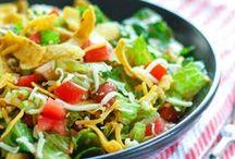 Salads / Salad recipes, spring salad, winter salad, pasta salad, fresh fruit salads, clean salads, salad dressing, kale, romaine, cucumber, tomatoes, entree salad