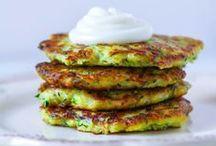 Appetizers / Appetizer recipes, potato pancakes, vegetable pancakes, zucchini pancakes, french fries, meatballs, quiche, flat bread, pizza
