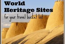 ♥ Unesco World Heritage Sites ♥ / I love a good Unesco World Heritage Site and I have visited over 100 of them so far - take a look at some of my photos and be inspired to visit!
