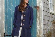 Waxed Cotton Rain Jackets / American-made organic cotton waxed rain jackets