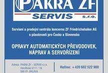 PAKRA ZF - SERVIS s.r.o. - opravy automatických převodovek, náprav a servořízení / Korporace byla založena koncem roku 1998, na základě potřeby koncernu ZF Friedrichshafen AG mít v České republice servisní centrálu pro záruční i pozáruční servis. Vlastní činnost byla oficiálně zahájena v lednu roku 1999 s působností pro celou Českou a Slovenskou republiku