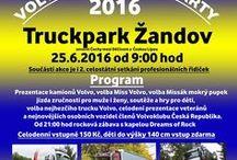 Truckpark Žandov - 25.6.2016 / Setkání členů facebookové skupiny Volvo Truck Team a jejich plechových miláčků, představení aut návštěvníkům z řad veřejnosti, soutěže, rocková zábava. Zároveň bude v rámci této akce probíhat i 2. celostátní setkání profesionálních řidiček kamionů, autobusů a ostatních dopravních prostředků. Také se budeme snažit vybrat mezi sebou nějaké finanční prostředky, které bychom rádi darovali vážně nemocným dětem. Celodenní vstupné 150 Kč platí i na večerní zábavu. Děti do výšky 140 cm vstup zdarma.