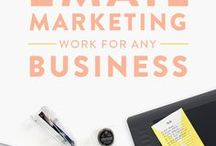 EMAIL MARKETING & NEWSLETTERS FOR BUSINESS / Email marketing inspiration and ideas! How to market your business via email and how to do and use newsletters in your business. Email marketing tips for creative women in business, email newsletters, and email blogging tips for mompreneurs and creatives.
