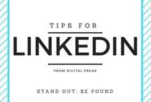 Tips for LinkedIn / Make the most out of this great professional platform and powerful B2B tool. #DigitalFreak #LinkedIn #socialmedia