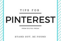 Tips for Pinterest / Make your business Pinterest account even better! #DigitalFreak