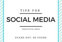 Tips For Social Media / Learn everything you need to know about all forms of Social Media right here! #DigitalFreak #SocialMedia #DigitalMarketing