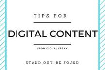 Digital Content Advice / Need help creating great digital content? You've come to the right place #DigitalFreak