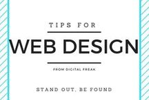 Tips for Website Design / Get great tips, advice and support on all things web design on this board compiled by #DigitalFreak