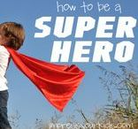 "Super Hero / Super Hero ideas, crafts & costumes to go with the ""How To Be a Super Hero"" series at ohAmanda.com!"