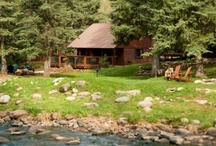 O-Bar-O Cabins, Durango, CO / Our Sister Property - Rustic cabins sitting on the banks of the Florida River. Rustic on the outside, luxurious on the inside!! / by Antlers on the Creek Bed & Breakfast