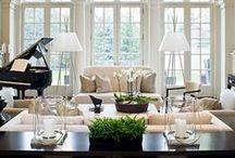 Home Sweet Home / stanze arredate, oggetti di arredo, idee per apparecchiare, pavimenti, cuscini, vasellame, lampadine, cucine, libri...