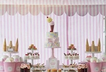 Icecream Parlor Events  / IceCream. Milkshakes.Retro.Vintage.Polka Dots. Sprinkles.Cherries.Cupcakes.Cookies.Sweets.