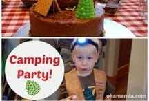 Asa's Camping Party / My all-boy is turning 5! He wants a camping party and here's where I'm collecting ideas. Our party will be posted at the end of September 2013!  {I moved a bunch of pins from my Party-ness board onto this board when I started planning. You will see by my comments how long I have been yearning for a camping party!!}