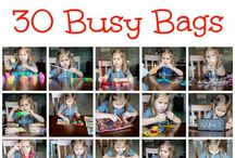 Busy Bag Ideas for Preschool / Making these to have in between activities or if a child or children need some quiet time .