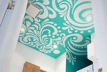 ~artful❤️txs~ / creative, artful treatment of interiors~walls, floors, ceilings, furnishings...