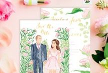 Stationery Design by Simply Jessica Marie / Heirloom wedding invitations, Custom wedding invitations, Watercolor wedding invitations, Calligraphy Wedding invitations, Watercolor Floral wedding invitations, Watercolor Portrait Illustration Save the Dates, Portrait Save the Dates, Artistic Wedding Invitations, Watercolor Floral Wedding Invitations, Day-Of wedding details, Day-Of wedding stationery, Wedding welcome gifts, Southern wedding invitations, Feminine watercolor wedding invitation and stationery design by Simply Jessica Marie