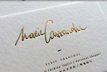 Letterpress business cards / The artistry of letterpress printing for business cards.