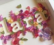 Quilling scritte