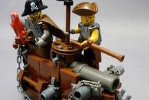 Pirate Lego & Minifigures / Just Pirate themed Lego!  From the Pirates of the Caribbean collection to other awesome swashbuckling minifigures, sets and original pieces of brick art... ships, treasure islands, port towns, hideouts, cannons, sword battles and skull'n'bones!