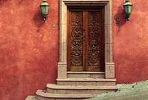 """La Hora Azul: Mexican Doors / When our brand """"La Hora Azul""""  travels throughout Mexico we see many amazing architecture that is old, new and re-imagined. This post is about the beauty of a simple item we use to enter and exit a location."""