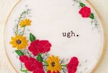 DIY / DIY projects that you can make without an arts degree. Lots of cross-stitch because it's cheap and easy!