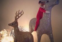   Elf on the Shelf   / Eddy the Elf came to stay with us for the first time during the Christmas holiday of 2015. This is what he got up to...... / by Clare Kellett