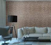 MILÁN brick walls / ¡El ladrillo visto está de moda! Súmate a las nuevas tendencias del estilo industrial. DIY your own brick wall at home.