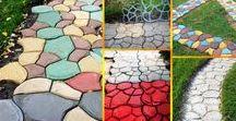 Schalungsformen für Garten / Gartenideen - Gartenweg selber machen