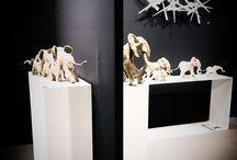 Artfair luxembourg 2017 / Mes sculptures à la foire internationale artfair 2017 du Luxembourg by la gallery cafmeyer.
