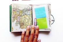 Art Journaling/Scrapbook Layouts/Ideas/Craft Room / by Kendra Kovach