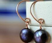 gemstone earrings / Handmade dangly gemstone earrings & gemstone studs.