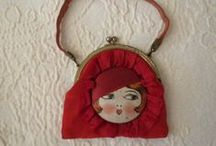 """Vintage Children's Purses / All of these are examples of vintage children's purses.  See more examples of antique and vintage purses on my boards titled, """"Antique Beaded Purses""""; """"Antique & Vintage Mesh Purses""""; and """"Other Antique & Vintage Purses, Vanities""""."""