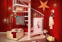 Fontanot | Christmas Stairs Decoration Ideas / Christmas Stairs Decoration Ideas