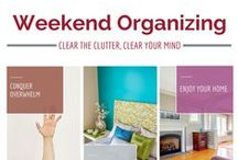 Products I Love For Organizing / This can be products that you can buy to help you organize all the way to cool ways to use existing items to organize. Make sure you check out my For The Home board too!
