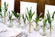Spring Tablescapes / Setting the table for spring gatherings